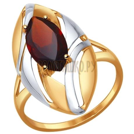 Кольцо из золота с гранатом 714576
