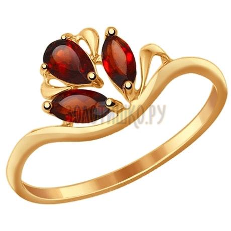 Кольцо из золота с гранатами 714588