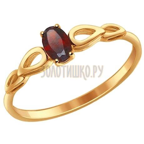 Кольцо из золота с гранатом 714591