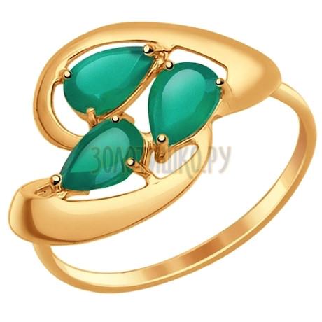 Кольцо из золота с агатами 714629