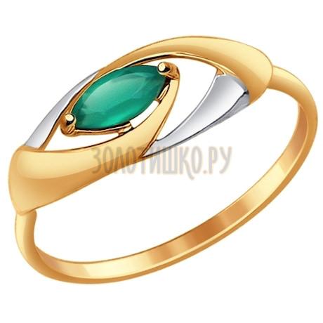 Кольцо из золота с агатом 714636