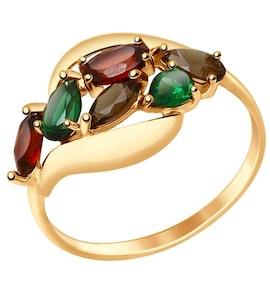 Кольцо из золота с полудрагоценными вставками 714690