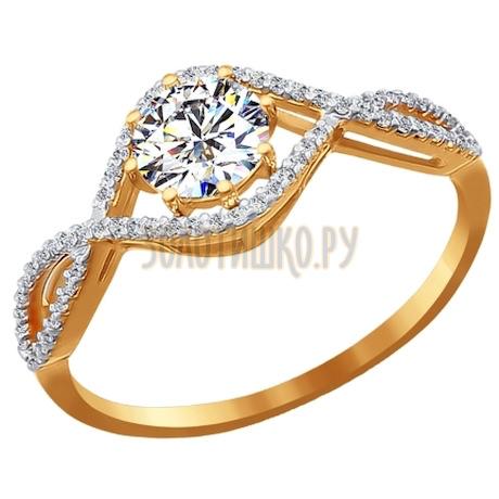 Кольцо из золота со Swarovski Zirconia 81010077