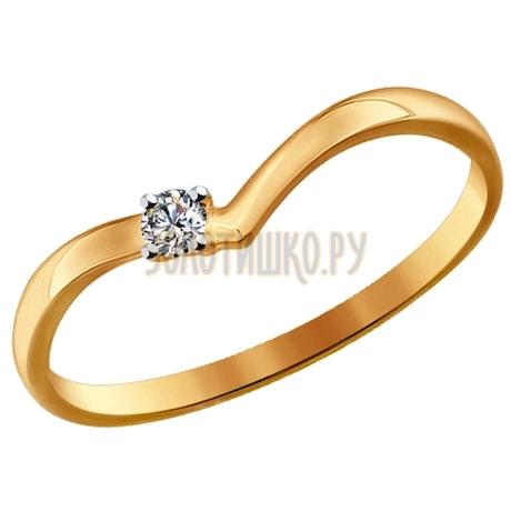 Помолвочное кольцо из золота со Swarovski Zirconia 81010213