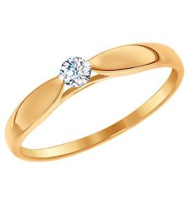 Помолвочное кольцо из золота со Swarovski Zirconia 81010234