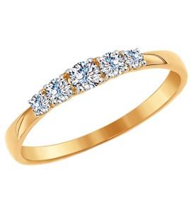 Кольцо из золота со Swarovski Zirconia 81010235