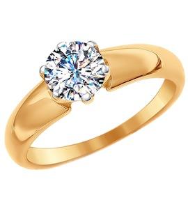 Помолвочное кольцо из золота со Swarovski Zirconia 81010236