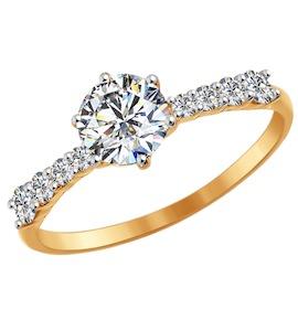 Помолвочное кольцо из золота со Swarovski Zirconia 81010240