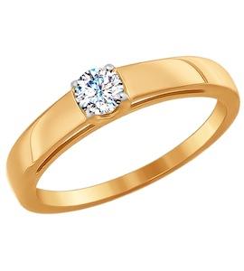 Помолвочное кольцо из золота со Swarovski Zirconia 81010242