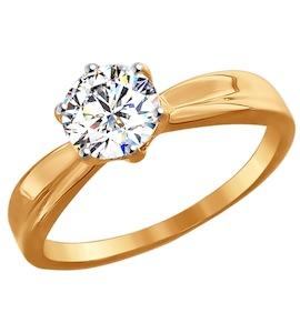 Помолвочное кольцо из золота со Swarovski Zirconia 81010252