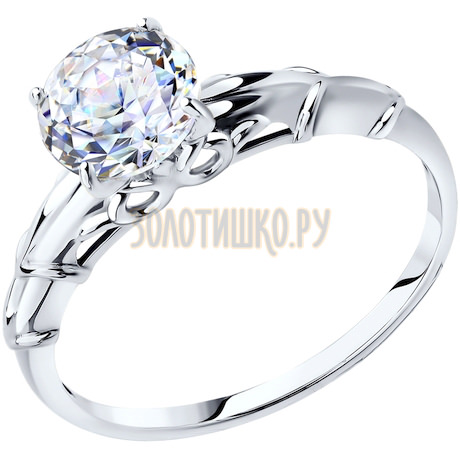 Кольцо из белого золота со Swarovski Zirconia 81010263