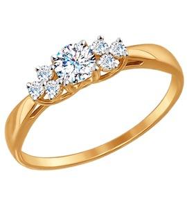 Помолвочное кольцо из золота со Swarovski Zirconia 81010274