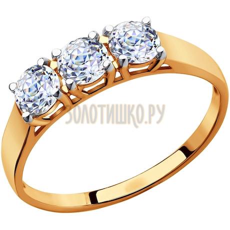 Кольцо из золота со Swarovski Zirconia 81010279