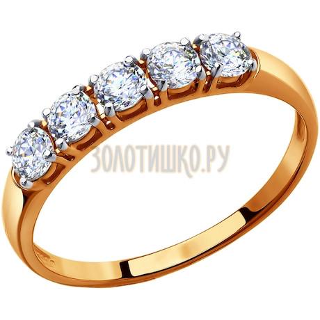 Кольцо из золота со Swarovski Zirconia 81010281