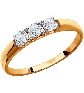 Кольцо из золота со Swarovski Zirconia 81010283