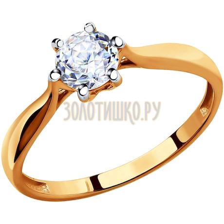 Кольцо из золота со Swarovski Zirconia 81010285