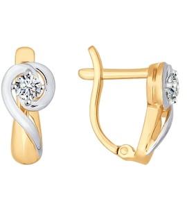Серьги из золота со Swarovski Zirconia 81020208