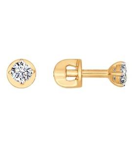 Серьги-пусеты из золота со Swarovski Zirconia 81020211