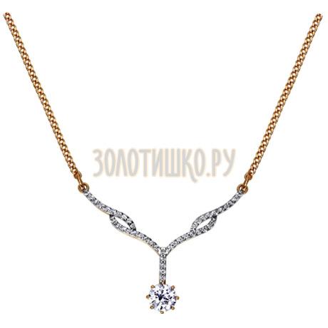 Колье из золота cо Swarovski Zirconia «Звезда» 81070001