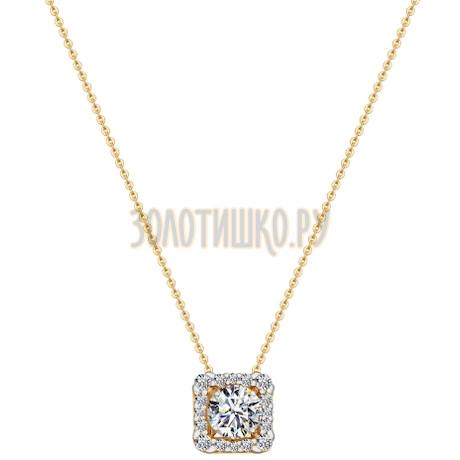 Колье из золота со Swarovski Zirconia 81070009