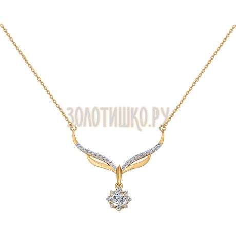 Колье из золота со Swarovski Zirconia 81070011