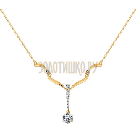 Колье из золота со Swarovski Zirconia 81070013