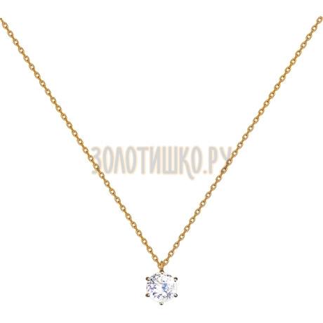 Колье из золота со Swarovski Zirconia 81070016
