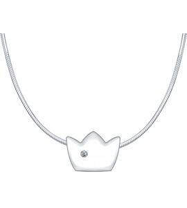 Серебряное колье «Достоинство» 87070005