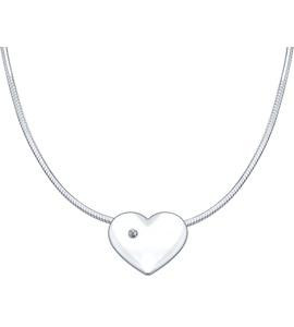 Серебряное колье «Любовь» 87070006