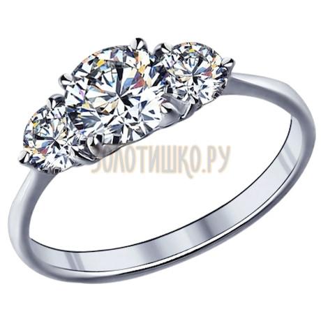 Кольцо из серебра с фианитами 89010004
