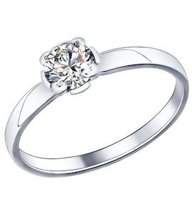 Помолвочное кольцо из серебра с фианитом 89010010
