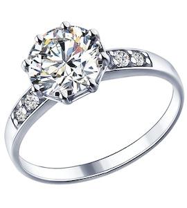 Кольцо из серебра с фианитами 89010014