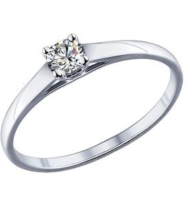 Помолвочное кольцо из серебра с фианитом 89010021