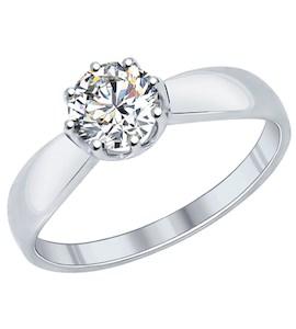 Помолвочное кольцо из серебра с фианитом 89010029
