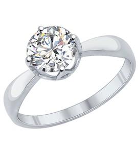 Помолвочное кольцо из серебра с фианитом 89010030