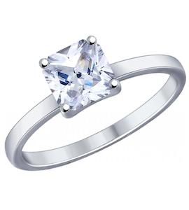 Помолвочное кольцо из серебра с фианитом 89010032