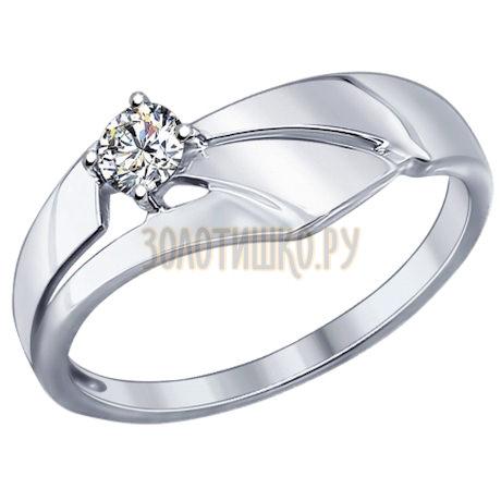 Кольцо из серебра с swarovski zirconia 89010037