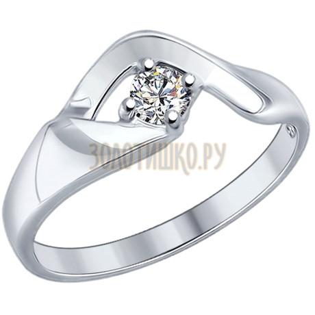 Кольцо из серебра с swarovski zirconia 89010038