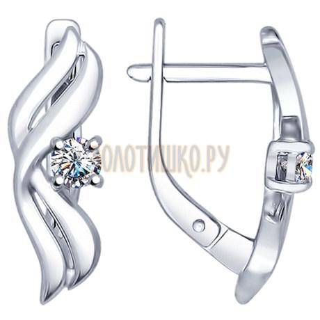 Серьги из серебра с swarovski zirconia 89020034