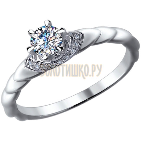 Кольцо из белого золота 9010045