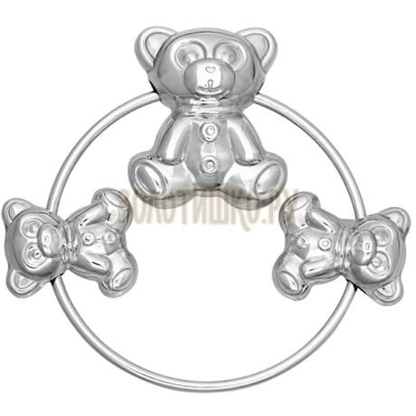 Погремушка для детей «Мишутка» из серебра 91250002