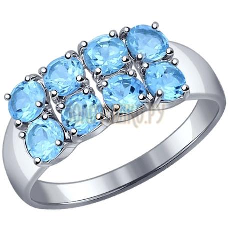 Кольцо из серебра с топазами 92011109