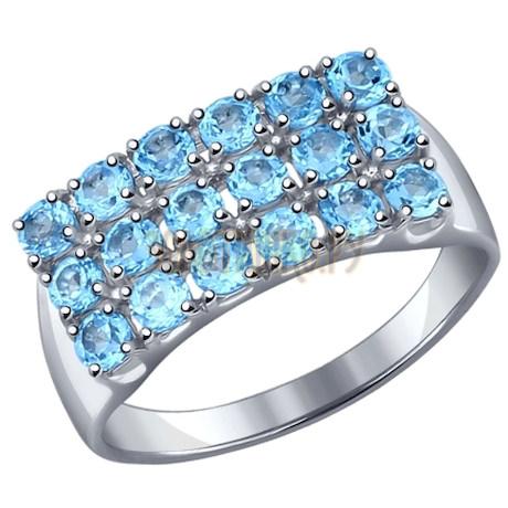 Кольцо из серебра с топазами 92011115
