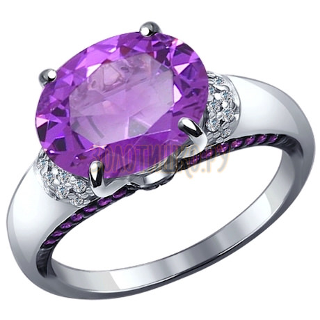 Кольцо из серебра с миксом камней 92011181