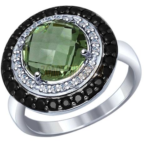 Кольцо из серебра с миксом камней 92011279