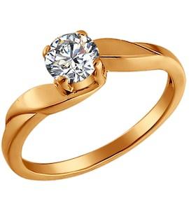 Позолоченное кольцо для помолвки 93010021