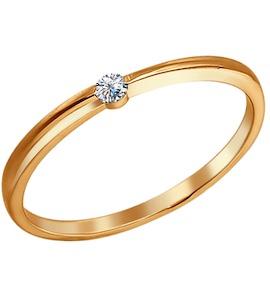 Помолвочное кольцо из золоченого серебра 93010157
