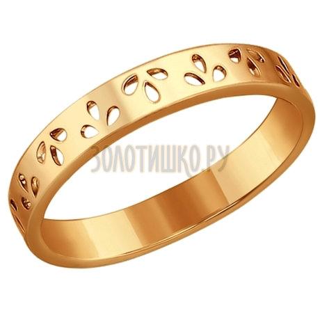 Кольцо из золочёного серебра 93010187