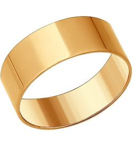 Обручальное кольцо из золочёного серебра 93010379