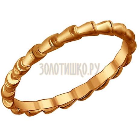Кольцо из золочёного серебра 93010428